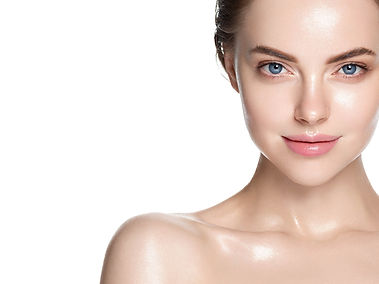 Beauty skin healthy beautiful hair woman