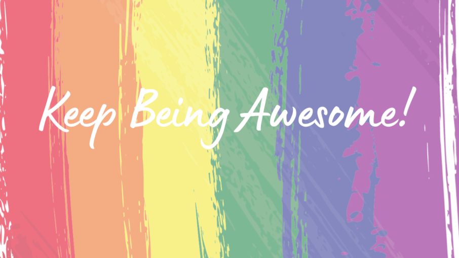 Pre-order. KeepBeing Awesome! Journal (Rainbow)