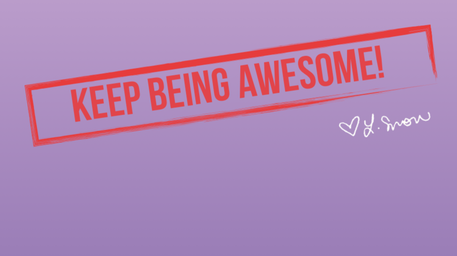 Pre-order Keep Being Awesome! Journal (purple)