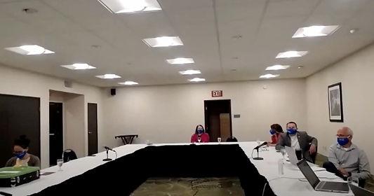 Hybrid Meeting!! Board members at Best Western with members on Zoom.