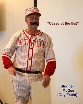 """""""Slugger McGee"""" (Guy Faust) acts out """"Casey at the Bat"""""""