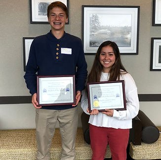 September Students of the Month Niko Krutzikowsky and Erin Watanabe