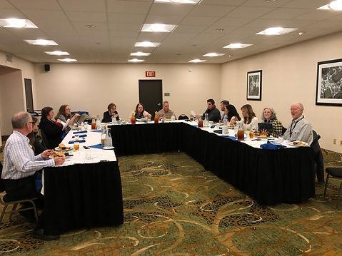Rotary Club of Newport Board of Directors meet at Agate Beach Best Western.