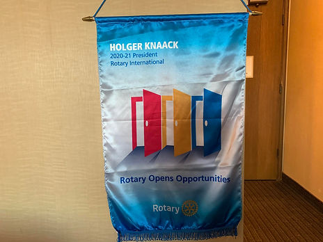 """New Rotary Banner: """"Rotary Opens Opportunities"""""""
