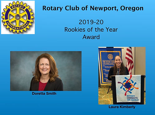Newcomers Doretta Smith and Laura Kimberly win Co-Rookieof the Year honors.