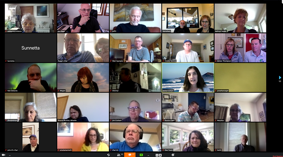 The Rotary Club of Newport meets through Zoom on April 16, 2020.