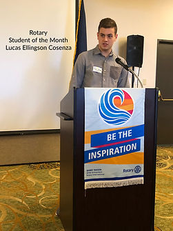 Rotary of Newport Student of the Month Lucas Ellingson Cosenza.
