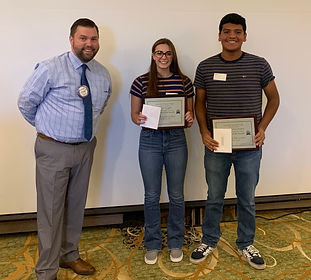 Grace Hargett and Enrique Garcia Ramos are Rotary Club of Newport Students of the Month