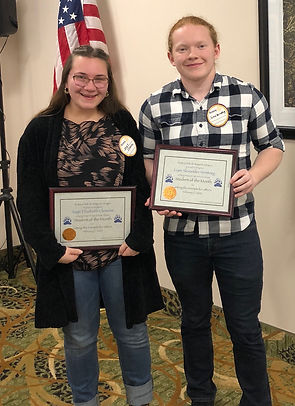 Rotary of Newport, Oregon February 2020 Students of the Month Sage Clemons and Liam Veersteeg
