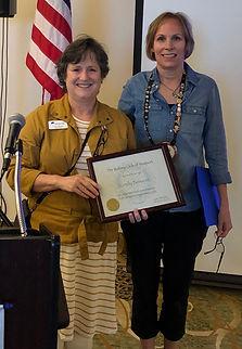 President Hanrahan welcomes new member Cindy Benson.