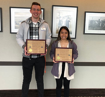 Rotary of Newport Students of the Month William Hartsell and Jillian Gonzales.