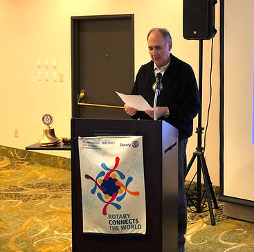 John Clark announces the Rotary Club of Newport Slate of Officers for the 2020-2021 year.