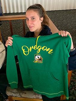 Noémie Hermant receives Duck gear.