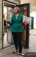 Newport Rotary President Julie Hanrahan speaks at the ABCs of Rotary November 7, 2019