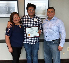 Rotary Club of Newport January Student of the Month, Josue Sanchez
