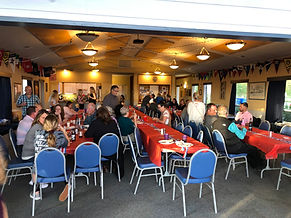 Rotary Club of Newport invades the Yaquina Yacht Club.