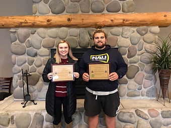Newport Rotary Students of the Month Breanna Russell and Jake Tucker.