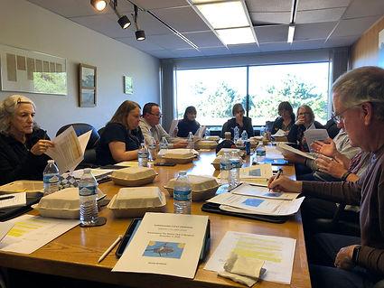 Rotary Club of Newport Board of Directors meet at Columbia Bank.