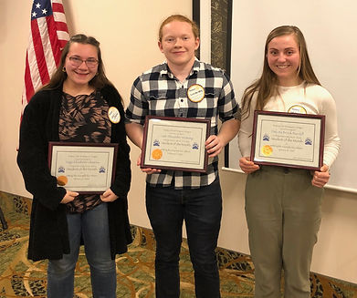 Rotary of Newport, Oregon's February Students of the Month Sage Clemons &Liam Versteeg and January Student of the Month Dakota Rundell