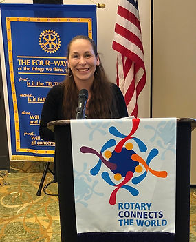 At the March 5, 2020 Rotary of Newport, Oregon meeting, Laura Kimberly substituted for President Hanrahan.