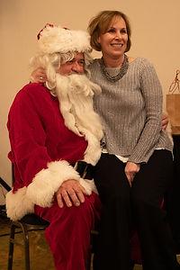 President Hanrahan with Santa.
