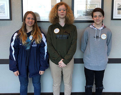 The three short-term outbound exchange students from the Rotary Club of Newport, Oregon are Echo Stewart, Harper Thomson and Braylon Belloni.