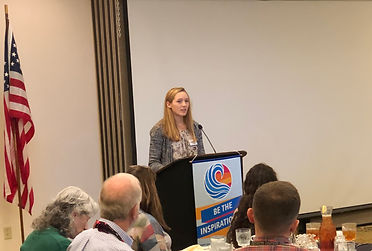 Rotary of Newport Student of the Month Megan Wagner.