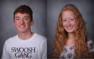 Rotary Club of Newport March Students of the Month- Luke Bachart and Audrey Vanderhoff
