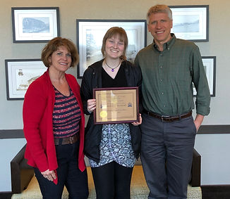 Rotary of Newport April Student of the Month Madeline Lehrer and her parents Jane and John Lehrer.