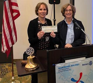Julie Hanrahan, Crystal Farnsworth, Newport Rotary