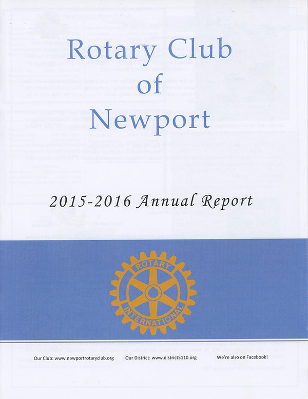 The Rotary Club of Newport, Oregon 2015-16 Annual Report