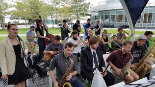 Performing with the Beantown Swing Orchestra