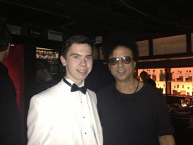 Hanging with Alex Foster after sitting in with the Mingus Big Band
