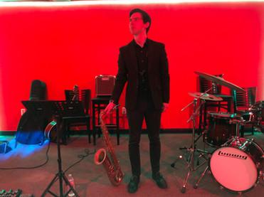 Performing with the Eric Derwallis Trio