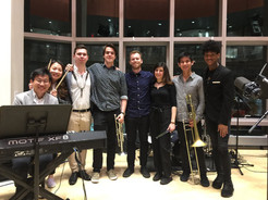 The band for my Senior Recital