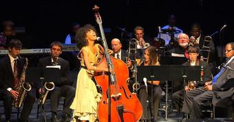 Performing with Esperanza Spalding