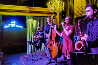 Performing with the Marigold Jazz Quintet