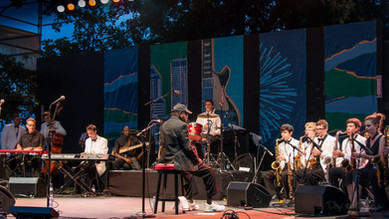 Performing at the Portland Blues Festival
