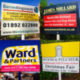 Fete board signs for estate letting agents