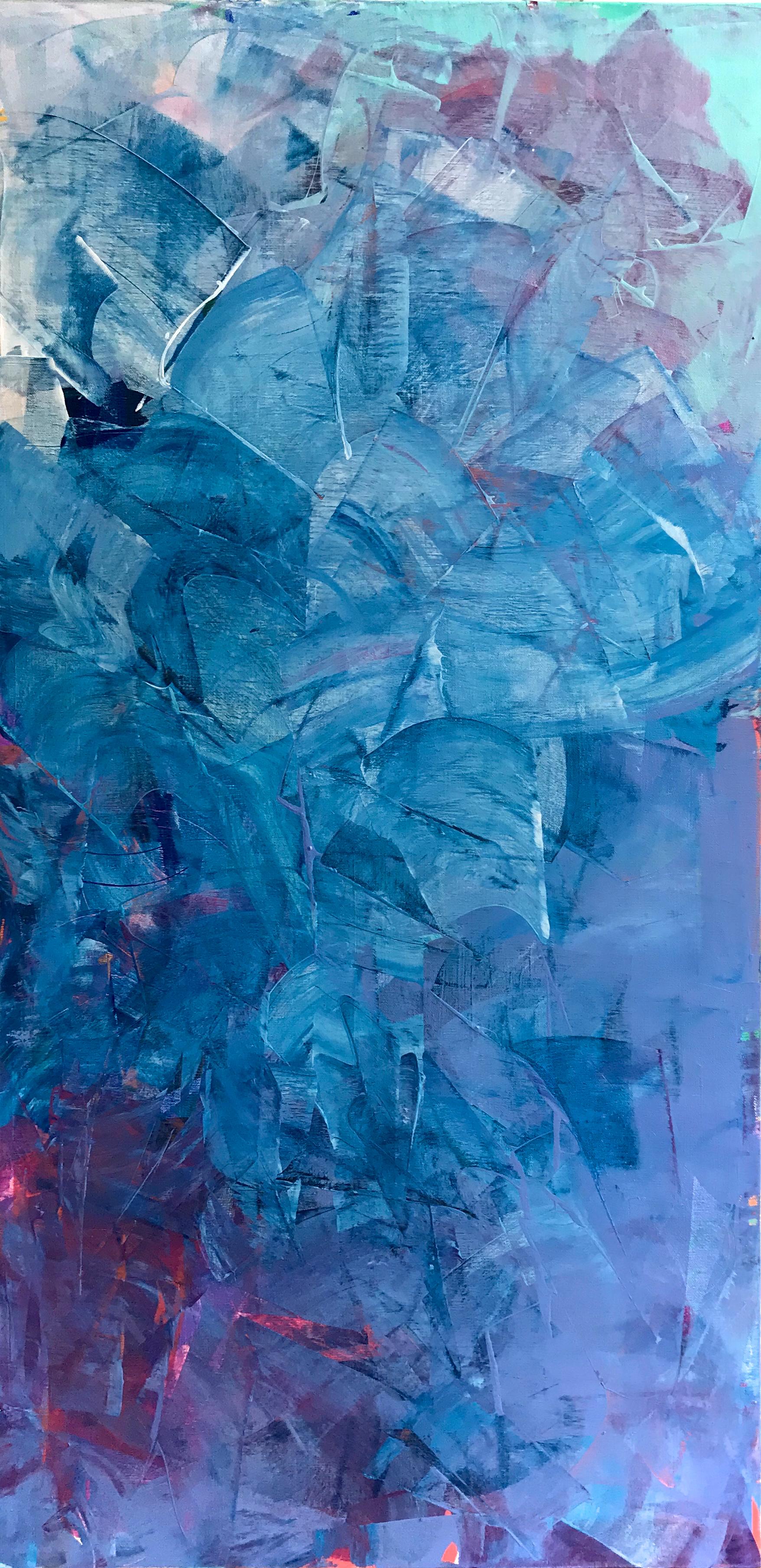 fractal in blue