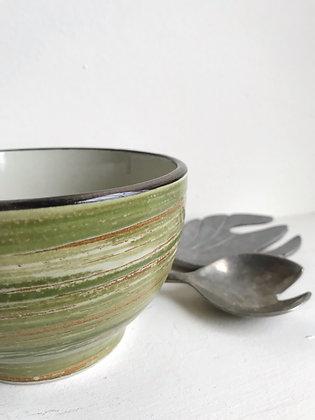 forest stripes cereal bowl