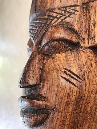 small wood mask