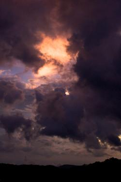 purple clouds in monteverde