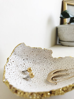 gold leaf shell dish