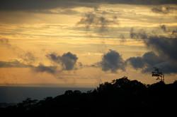 orange sky in monteverde