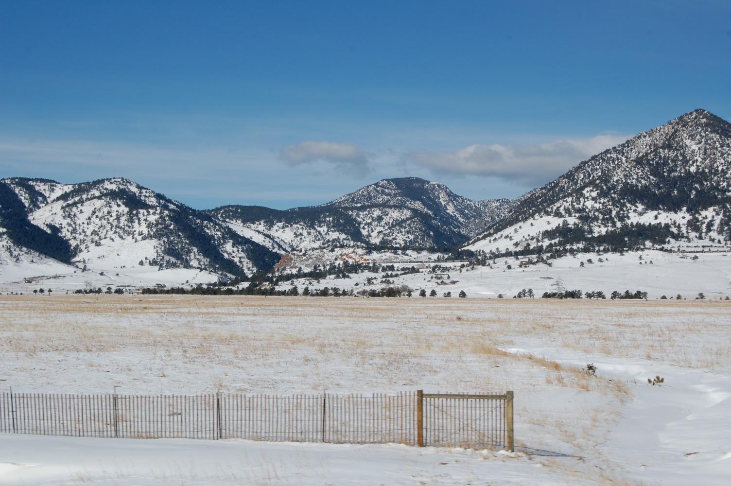 snow on farmlands no.2