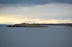 sunset over the falkland islands