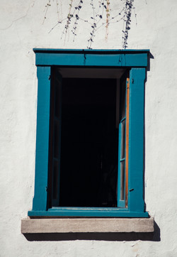 the leaning teal frame