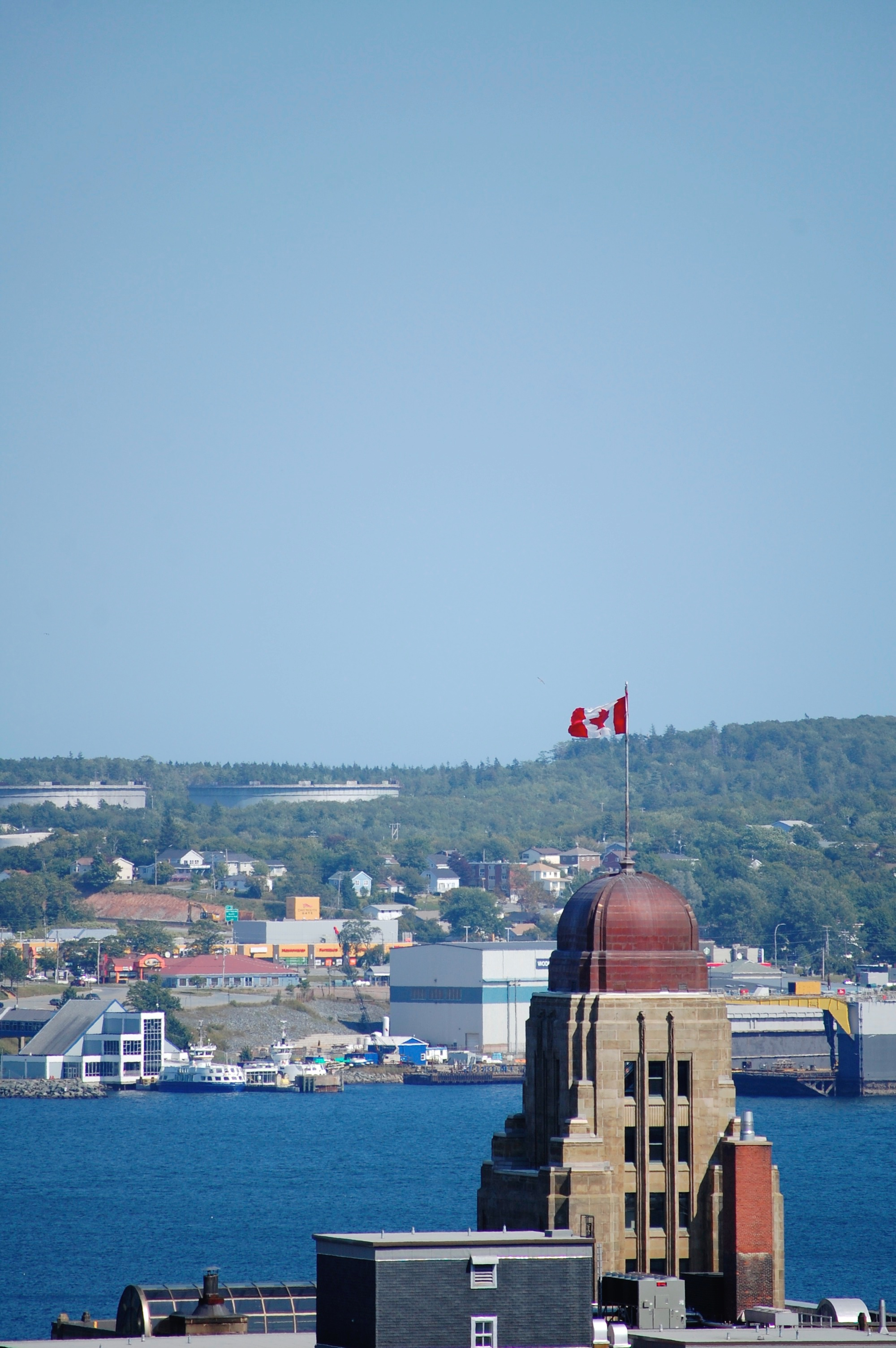 view of halifax from the citadel no.