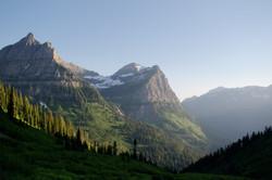 glacier national at dusk